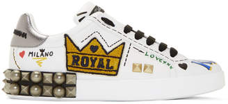 Dolce & Gabbana White Kings Of Love Sneakers