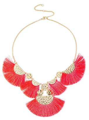 Miss Selfridge Pink collar necklace