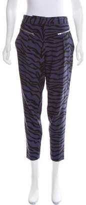Rebecca Taylor Animal Print High-Rise Pants