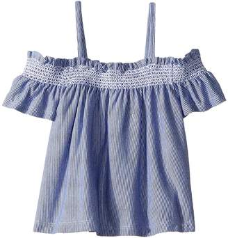 Janie and Jack Striped Off Shoulder Top Girl's Clothing
