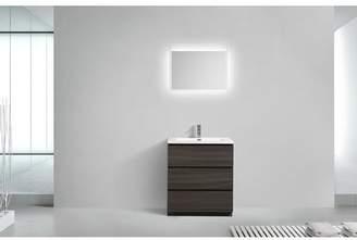 """Orren Ellis Riker Free Standing 36"""" Single Bathroom Vanity Set"""
