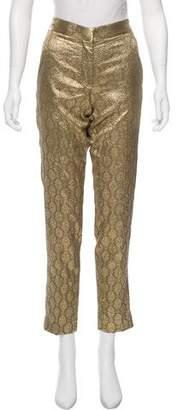 Stella McCartney Silk Mid-Rise Pants