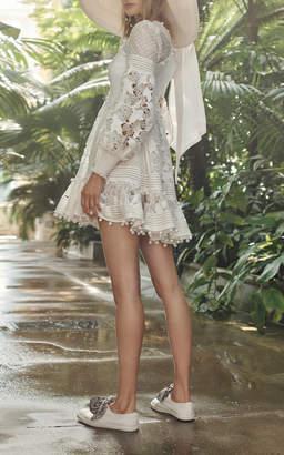 Zimmermann Corsage Embellished Mini Dress