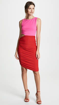 Susana Monaco Side Gathered Cutout Dress