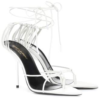 Saint Laurent Inez leather sandals