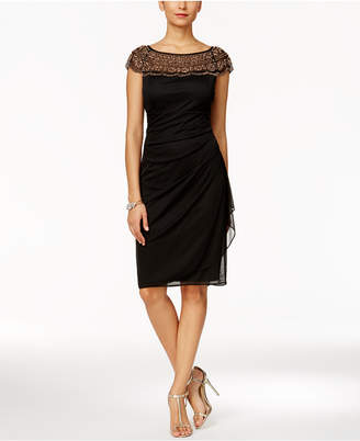 MSK Beaded Ruched Sheath Dress $99 thestylecure.com