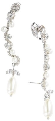 Women's Cristabelle Imitation Pearl & Crystal Clip Ear Crawlers $38 thestylecure.com
