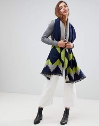 7X geometric knitted scarf