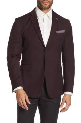 Original Penguin Birdseye Red Micro-Dot Two Button Notch Lapel Slim Fit Suit Separates Blazer
