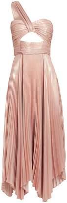 A.L.C. Aurora Pleated One Shoulder Dress