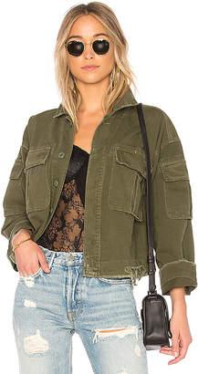GRLFRND Dorian Oversized Crop Army Jacket