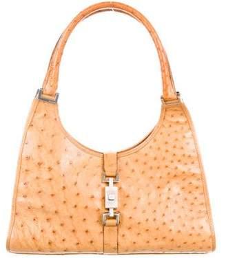 Gucci Ostrich Bardot Bag