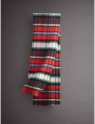 Burberry Long Check Wool Mohair Blend Scarf