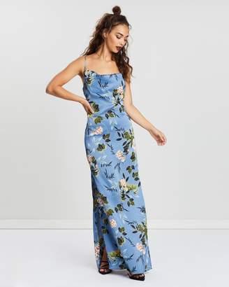 Missguided Satin Cowl Neck Side Split Maxi Dress