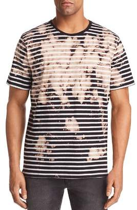 PRPS Goods & Co. Striped Bleached Crewneck Tee