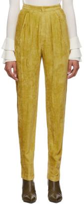 Isabel Marant Yellow Fany Pants