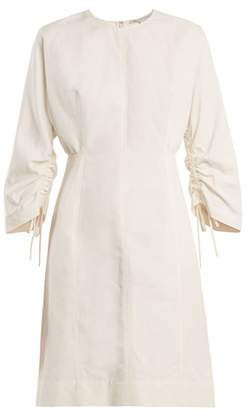 Stella McCartney Round Neck Cocoon Long Sleeved Dress - Womens - Cream