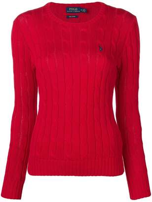 Polo Ralph Lauren logo cable knit sweater