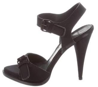 Givenchy Neoprene Ankle Strap Sandals