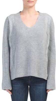 Juniors V-neck Pullover Sweater