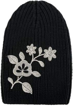 DSQUARED2 embroidered flower beanie