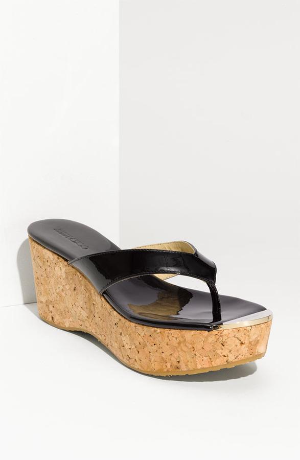 Jimmy Choo 'Pathos Pat' Cork Wedge Sandal