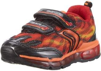 Geox Kids J Android B. A Sneakers, Orange/Black