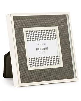 David Jones Silver Plated Black 3 x 3 Metal Photo Frame
