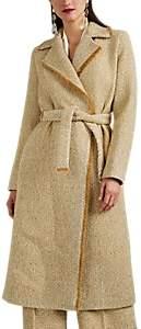 Martin Grant Women's Metallic Wool Tweed Overcoat - Gold