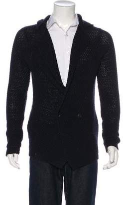 Viktor & Rolf Cable Knit Notched-Lapel Cardigan