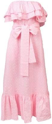 Lisa Marie Fernandez strapless ruffle midi dress