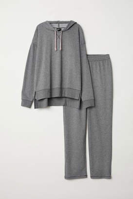 H&M Hooded Pajama Top and Pants - Gray