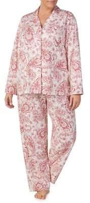 Lauren Ralph Lauren Plus Printed Cotton Pajama Set