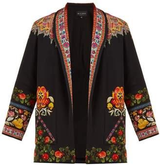 Etro Itadaki Paisley Print Open Front Jacket - Womens - Black Multi