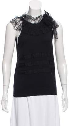 RED Valentino Lace-Accented Sleeveless Top