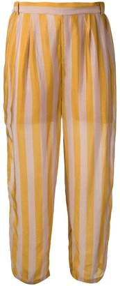 Mes Demoiselles cropped striped trousers