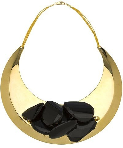 Susan Hanover Black and Gold Collar Necklace