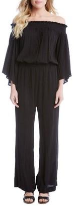 Women's Karen Kane Smocked Off The Shoulder Jumpsuit $139 thestylecure.com