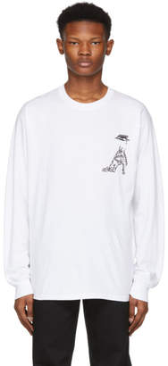Toga Virilis White Print Long Sleeve T-Shirt
