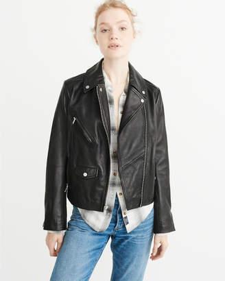 Abercrombie & Fitch Leather Biker Jacket