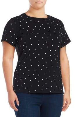 Lord & Taylor Plus Two-Tone Short-Sleeve Tee