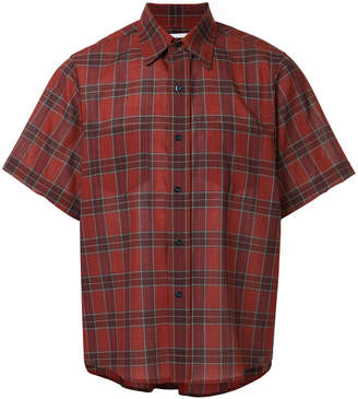Facetasm plaid short-sleeve shirt