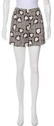 Stella McCartney Silk Printed Mini Shorts