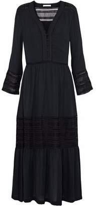 Rebecca Minkoff Daphne Lace-Trimmed Crepe De Chine Dress