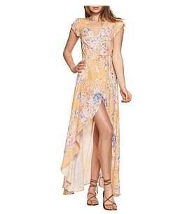 Dahlia Auguste Petal Wrap Maxi Dress
