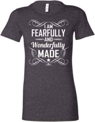 ULTIMATE SHIELD APPAREL Christian T-Shirt I am Fearfully and Wonderfully Made Ladies' Favorite Tee