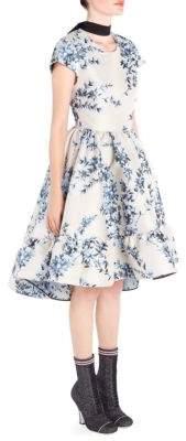 Fendi Floral-Print Fit-&-Flare Dress