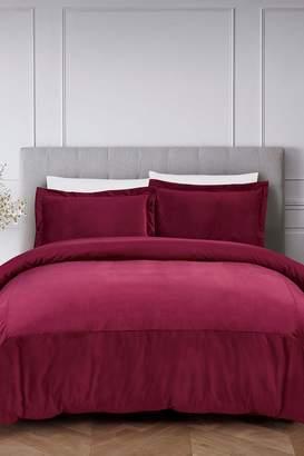 California Design Den by NMK Luxury French Velvet Comforter Set - Wine