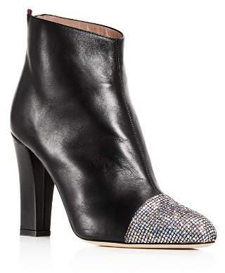 Sarah Jessica Parker Women's Rumi Leather Cap Toe High-Heel Booties