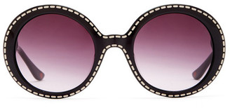 MOSCHINO Women's Round Glam Sunglasses $335 thestylecure.com